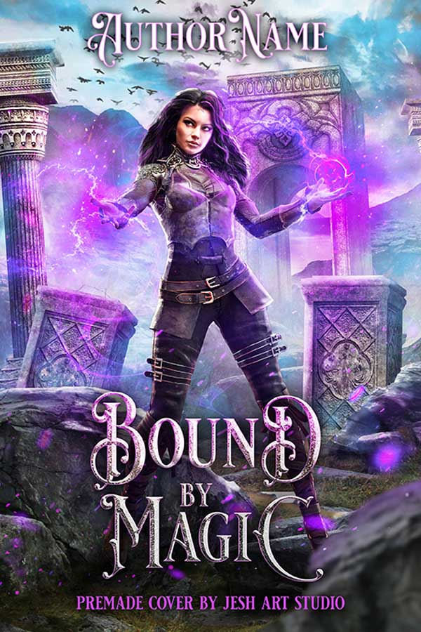 Bound by Magic fantasy cover design by jeshartstudio